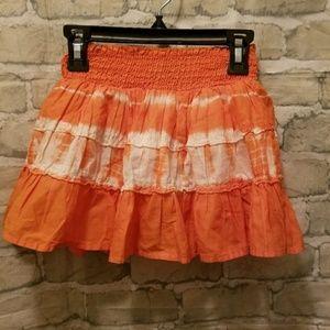 Orange  childrens place skirt